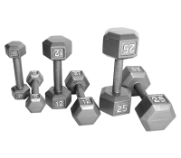 HEXAGON GRAY DUMBBELLS