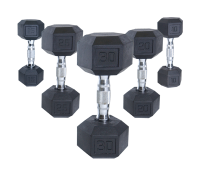 COATED DUMBBELLS W/ ERGONOMIC HANDLES