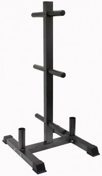 Vertical Olympic Bumper Plate and Bar Rack  GOPT