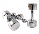 Picture of CHROMED SOLID DUMBBELLS W/ CONTOURED HANDLES